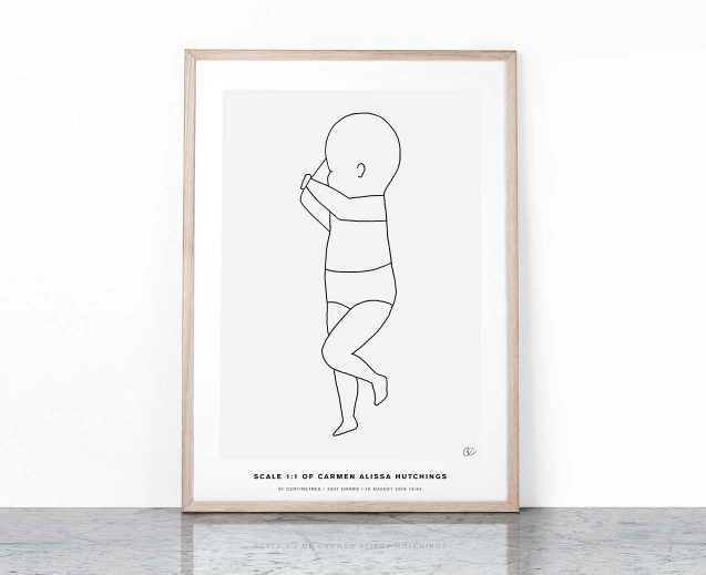 The Birth Poster CONTINUOUS LINE #4
