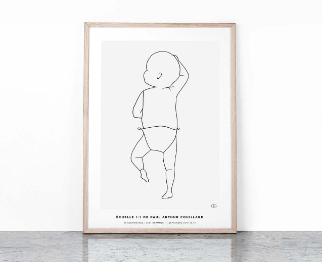 The Birth Poster CONTINUOUS LINE #3